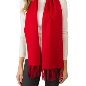 Accessories - Red Cashmere Scarf, Soft New